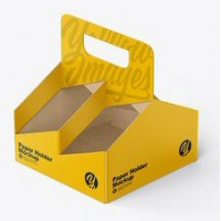 Paper Cup x4 carrying Tray